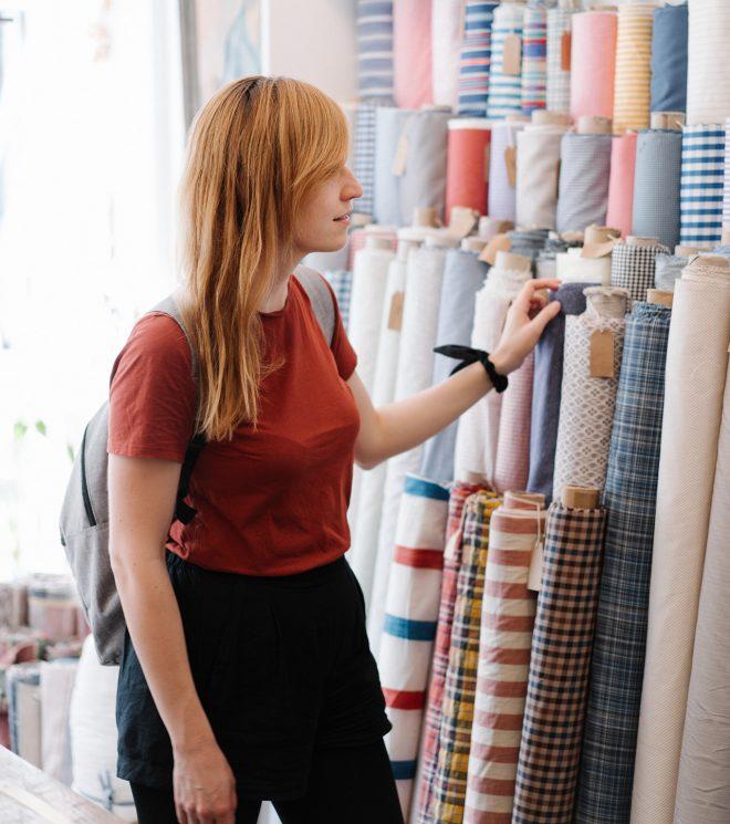 Moin Liz DIY nähen Upcycling Refashion Muster Stoff kaufen